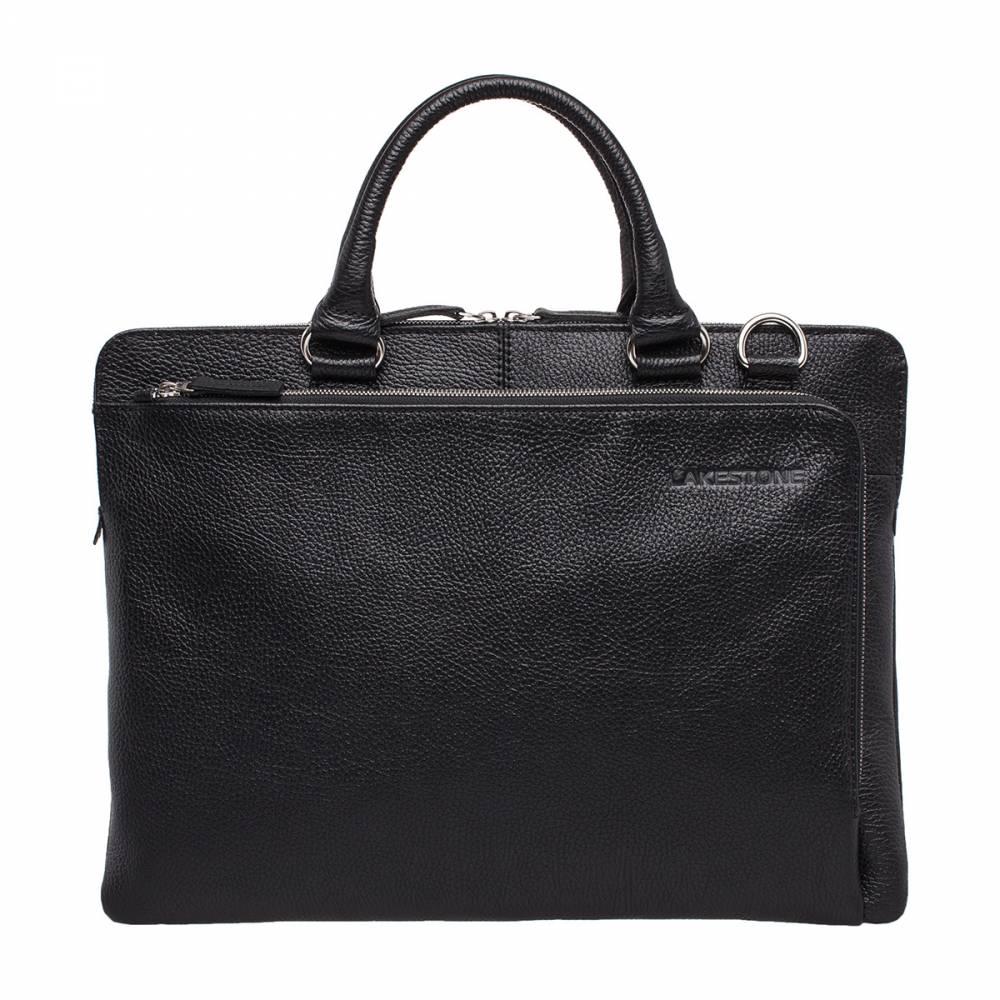 Деловая сумка Albert BlackКомпактная деловая сумка для успешного мужчины. Это изделие отличается качественным исполнением и интересным дизайном, поэтому обязательно стоит заострить на нем свое внимание. Сумка достаточно тонкая, но это не отражается на ее вместительности. По своей форме она очень приближена к строгому портфелю, но более практична в использовании. Удобная Г-образная молнии, которая открывает доступ в наружный карман. Это позволяет хранить в нем документы, как в папке. &amp;amp;nbsp;<br>