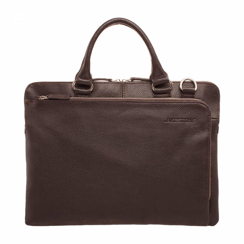 Деловая сумка Albert BrownОчень презентабельная сумка слим-формата для делового мужчины. Это изделие относится к премиальным, ведь оно пошито из высокосортной натуральной кожи и дополнено качественной фурнитурой. С такой сумкой можно появиться практически где угодно, начиная от делового симпозиума и заканчивая посещением ресторана. Естественно, что этот аксессуар идеально отточен не только снаружи, но и внутри. В нем есть все необходимо для ведения комфортной деловой жизни, что совсем немаловажно.&amp;amp;nbsp;<br>