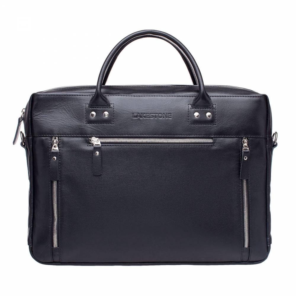 Деловая сумка Barossa BlackКожаная мужская сумка из 100% натуральных материалов.&#13; Изделие представлено в черном цвете, имеет строгую форму, которую не теряет&#13; даже при частичном наполнении. В сумку без проблем можно поместить ноутбук&#13; диагональю до 15 дюймов, для техники предусмотрена отдельная секция. Также&#13; внутри найдется место для деловых бумаг формата А4, для смартфона и канцелярии.&#13; Снаружи имеются три кармана, которые позволяют оперативно получать доступ к&#13; самым необходимым мелочам. Сумка не только стильно выглядит, ей очень удобно&#13; пользоваться на протяжении дня, ведь изделие оснащено анатомическими ручками из&#13; натуральной кожи. Они ложатся в ладонь, будто были созданы по индивидуальному&#13; заказу.<br>