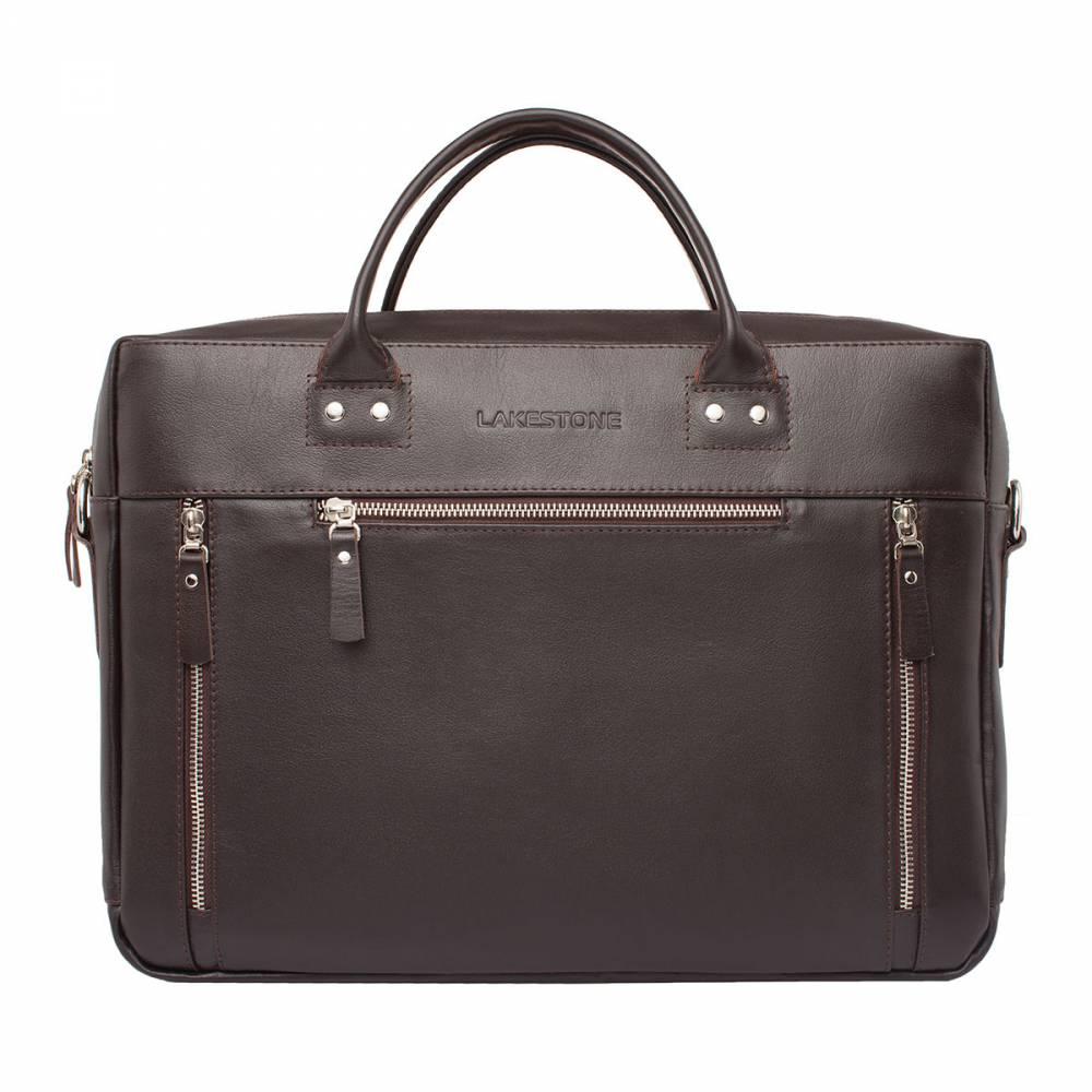Деловая сумка Barossa BrownСумка для делового мужчины из натуральной кожи коричневого&#13; цвета. Изделие имеет строгий современный дизайн, привлекает своими выверенными&#13; формами. На фасаде сумки есть три кармана для хранения мелких вещей, еще один&#13; карман расположился с обратной стороны изделия. Под металлической молнией&#13; скрывается три секции открытого. В них без проблем можно разместить деловые&#13; бумаги, ноутбук до 15 дюймов в диагонали, средство связи, канцелярские&#13; принадлежности. Для хранения наиболее важных документов можно воспользоваться&#13; секцией с фиксацией на молнию. Сумку очень удобно транспортировать, так как она&#13; оснащена анатомическими ручками, которые идеально ложатся в ладонь своего&#13; обладателя.<br>