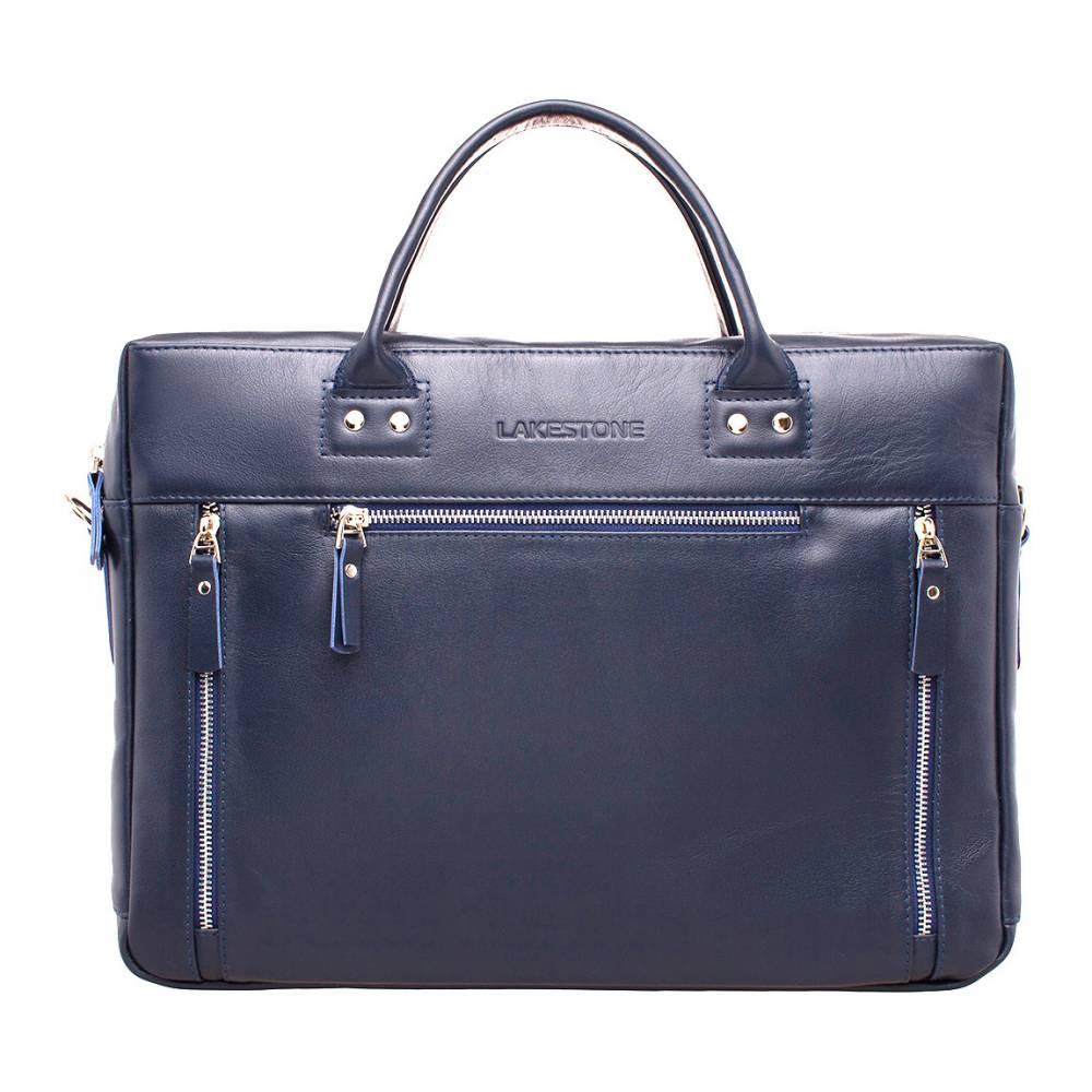 Деловая сумка Barossa Dark Blue&amp;lt;p&amp;gt;Деловая сумка для делового мужчины. Этот аксессуар на 100% пошит из качественной натуральной кожи, имеет привлекательный и строгий дизайн, а также до мелочей продуманный функционал. &amp;lt;/p&amp;gt;&amp;lt;p&amp;gt;Изделие отлично держит форму, даже тогда, когда в нем нет ни одной вещи. Это возможно благодаря жестким стенкам, дающим дополнительную защиту от ударов и повреждений. Внутри достаточно места как для документов, так и для электроники: планшета или ноутбука. &amp;lt;/p&amp;gt;&amp;lt;p&amp;gt;Молнии на лицевой стороне аксессуара – это не просто элемент декора, они открывают вход в карманы, что очень практично. Транспортировать сумку можно как в руках, так и на плече. Ремень отстегивается, если в нем отпадает необходимость.&amp;amp;nbsp;&amp;lt;/p&amp;gt;<br>