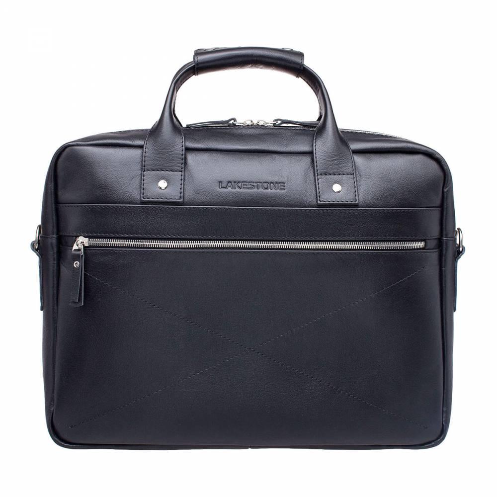 Деловая сумка Bartley BlackДеловая мужская сумка в черном цвете. Изделие выполнено из натуральной кожи, качество которой не нуждается в&#13; комментариях. Внутреннее пространство представлено одним базовым отделением для&#13; документации и дополнительной секции для весьма габаритного ноутбука до 15&#13; дюймов в диагонали. Также есть дополнительные карманы для канцелярии, для&#13; смартфона и иных атрибутов, необходимых для трудовых будней делового человека. Кроме&#13; того, есть два кармана на молнии спереди и сзади сумки, что позволяет быстро&#13; получать доступ к вещам первой необходимости. Ручки сумки имеют анатомическую&#13; форму, что позволяет с комфортом носить изделие даже на длительные&#13; расстояния.<br>