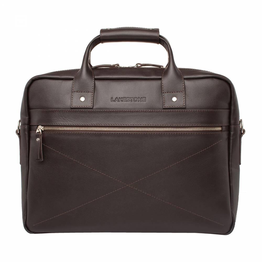 Деловая сумка Bartley BrownДеловая сумка из высокосортной натуральной кожи станет&#13; отличным дополнением солидного образа мужчины, ценящего качество в деталях.&#13; Стильное изделие будет не только радовать взгляд безупречным исполнением, но и&#13; станет незаменимым помощником, без которого трудно будет представить рабочие&#13; будни. Сумка имеет оптимальные размеры, которые идеально подходят&#13; для транспортировки не только ценных бумаг, но и ноутбука до 15 дюймов в&#13; диагонали. Расстегнув металлическую молнию, внутри можно обнаружить отсек для&#13; главного электронного помощника – для ноутбука, а также секцию для бумаг с&#13; карманами открытого и закрытого типа. Ручная работа профессиональных мастеров в&#13; сочетании с качественными натуральными материалами сделали изделие желанным&#13; приобретением каждого мужчины.<br>