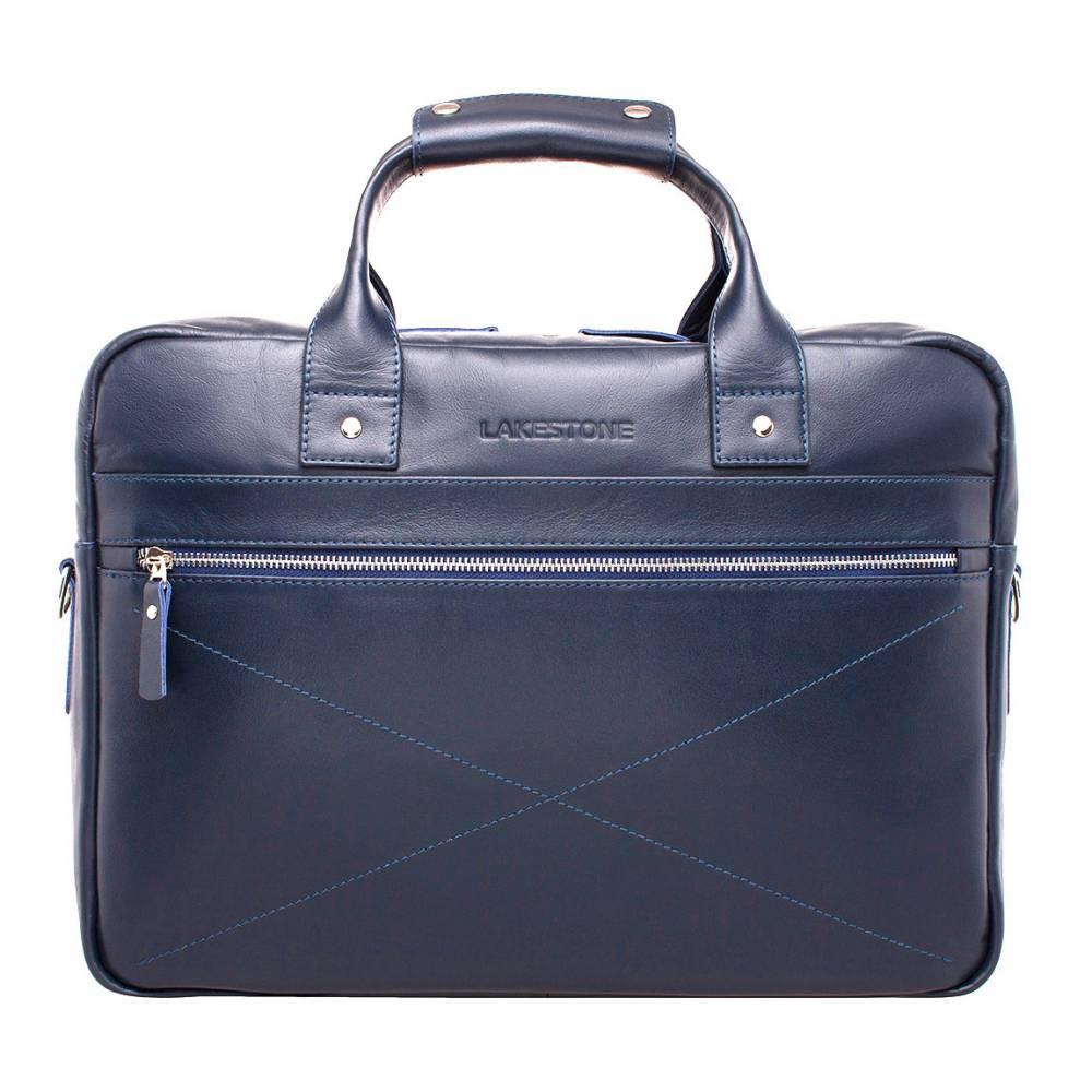 Деловая сумка Bartley Dark Blue&amp;lt;p&amp;gt;Сумка, которая станет безупречным дополнением делового образа, созданного преуспевающим мужчиной. Этот аксессуар смотрится невероятно стильно, дорого и надежно. &amp;lt;/p&amp;gt;&amp;lt;p&amp;gt;Изделие будет отлично держать форму, даже когда его недра абсолютно пусты. Это возможно благодаря жесткому дну и боковым стенкам. Внутри хватит места для всех необходимых вещей: для электроники, документов, портмоне, канцелярии и пр. &amp;lt;/p&amp;gt;&amp;lt;p&amp;gt;Снаружи аксессуар дополнен карманами на молнии, которые несут не только функциональную, но и эстетическую нагрузку. Что касается способа транспортировки сумки, то их два: в руках и на плече. Причем ручки имеют удобный держатель, а ремень отстегивается, если в нем нет необходимости.&amp;amp;nbsp;&amp;lt;/p&amp;gt;<br>
