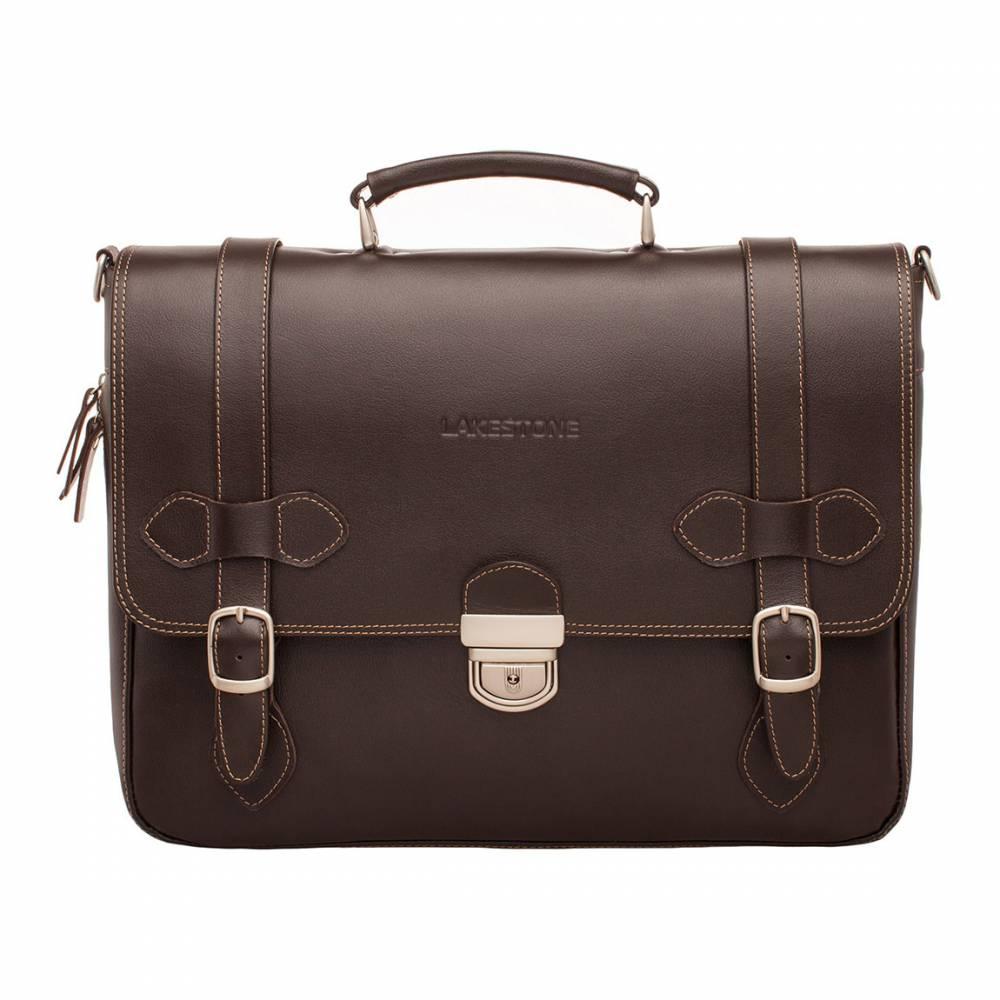 Портфель Belmont Brown&amp;lt;p&amp;gt;Стильный портфель – это надежный и незаменимый помощник делового мужчины на каждый день. Представленная модель пошита из натуральной кожи высокого качества. Темно-коричневый цвет позволяет сочетать аксессуар практически с любым образом. &#13; Дизайн очень необычный и интересный. Он отличается минимализмом и собственным стилем. Ременные пряжки смотрятся органично и, в то же время, невероятно стильно. Внутри две просторных секции открытого типа с органайзером. Разделены отсеки карманом-перегородкой  для хранения особо важных документов. Такой портфель можно по праву поставить на пьедестал почета среди всех аксессуаров аналогичного типа.&amp;lt;/p&amp;gt;<br>