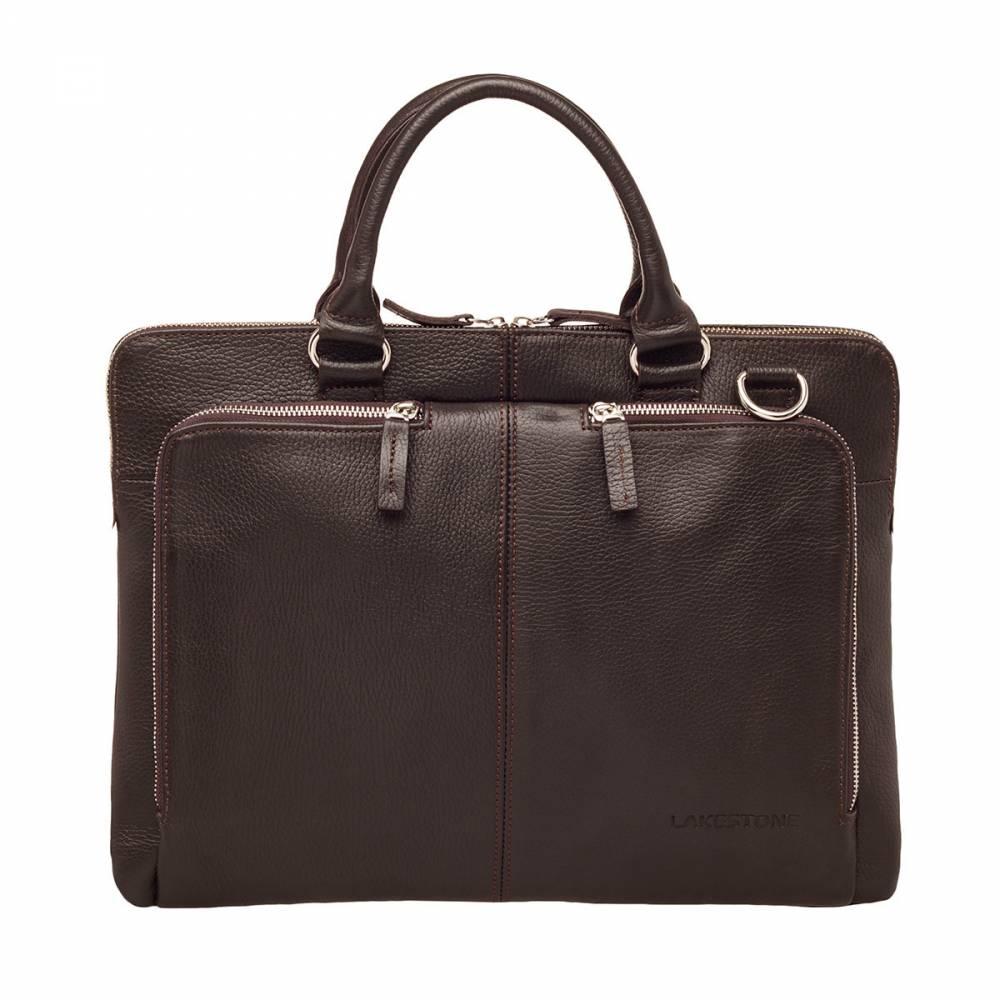 Деловая сумка Brook Brown&amp;lt;p&amp;gt;Плотная и рельефная кожа из которой пошита представленная модель вызывает инстинктивное желание прикоснуться к ее поверхности. Эта деловая сумка отличается безупречным дизайном, качественным исполнением и продуманным функционалом. Мужчина, взяв такое изделие в руки однажды, уже не захочет с ним расстаться никогда. Премиум аксессуар по вполне доступной цене. Аксессуар, которые создает имидж.&amp;amp;nbsp;&amp;lt;/p&amp;gt;<br>