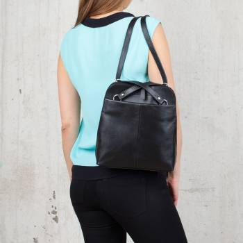 Компактный женский рюкзак-трансформер Eden Black