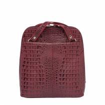 Компактный женский рюкзак-трансформер Eden Burgundy Caiman