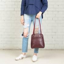 Компактный женский рюкзак-трансформер Eden Burgundy