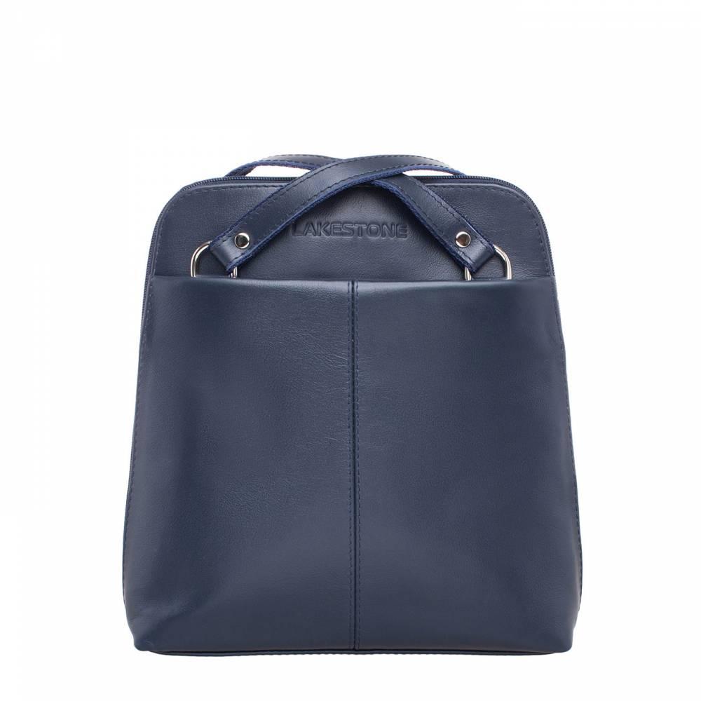 Компактный женский рюкзак-трансформер Eden Dark Blue&amp;lt;p&amp;gt;Стильный и невероятно практичный рюкзак-трансформер, который можно транспортировать по типу сумки через плечо. Это очень удобно, так как позволяет сочетать модель с любыми образами, начиная от спортивных костюмов и заканчивая классическими платьями. &amp;lt;/p&amp;gt;&amp;lt;p&amp;gt;Внутреннее пространство аксессуара весьма эргономично. Оно представлено двумя секциями, которые разделяет карман-перегородка. Кроме того, изделие дополнено карманами открытого и закрытого типа. В них можно без проблем разместить все необходимые в повседневной жизни мелочи. &amp;lt;/p&amp;gt;&amp;lt;p&amp;gt;Для пошива изделия использовалась только натуральная кожа, что делает его долговечным. Купив такой аксессуар, можно на несколько лет забыть о походах по магазинам в поисках стильной сумки. Более того, восхищенные взгляды окружающих можно будет считать дополнительной гарантией качества изделия.&amp;amp;nbsp;&amp;lt;/p&amp;gt;<br>