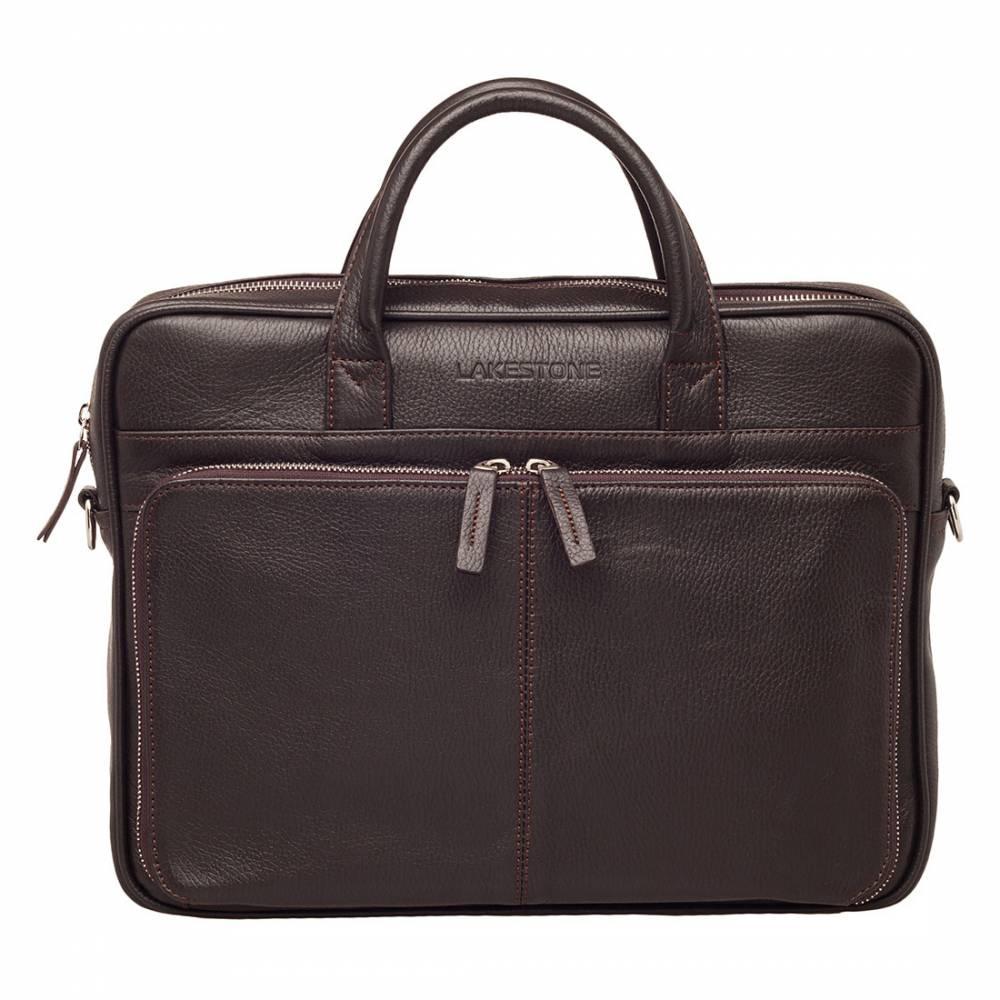 Деловая сумка Elberton Brown&amp;lt;p&amp;gt;Сумка для мужчины должна быть не только солидной, но и практичной. Это неприемлемое условие современного аксессуара делового человека. Представленная модель отвечает поставленным требованиям на 100%. Очень привлекает цвет, в котором пошит аксессуар. Кроме всех перечисленных достоинств, изделие обладает еще одним несомненным плюсом - оно очень вместительное, в отличии от большинства плоских мужских сумок. Аксессуар создавался по типу портфеля, но при этом намного комфортнее и современнее этого классического изделия. Если возникла необходимость отправиться в командировку или путешествие, на задней стороне сумки имеется специальное расстегивающееся отделение, сумка надевается на ручку чемодана. &amp;amp;nbsp;&amp;lt;/p&amp;gt;<br>