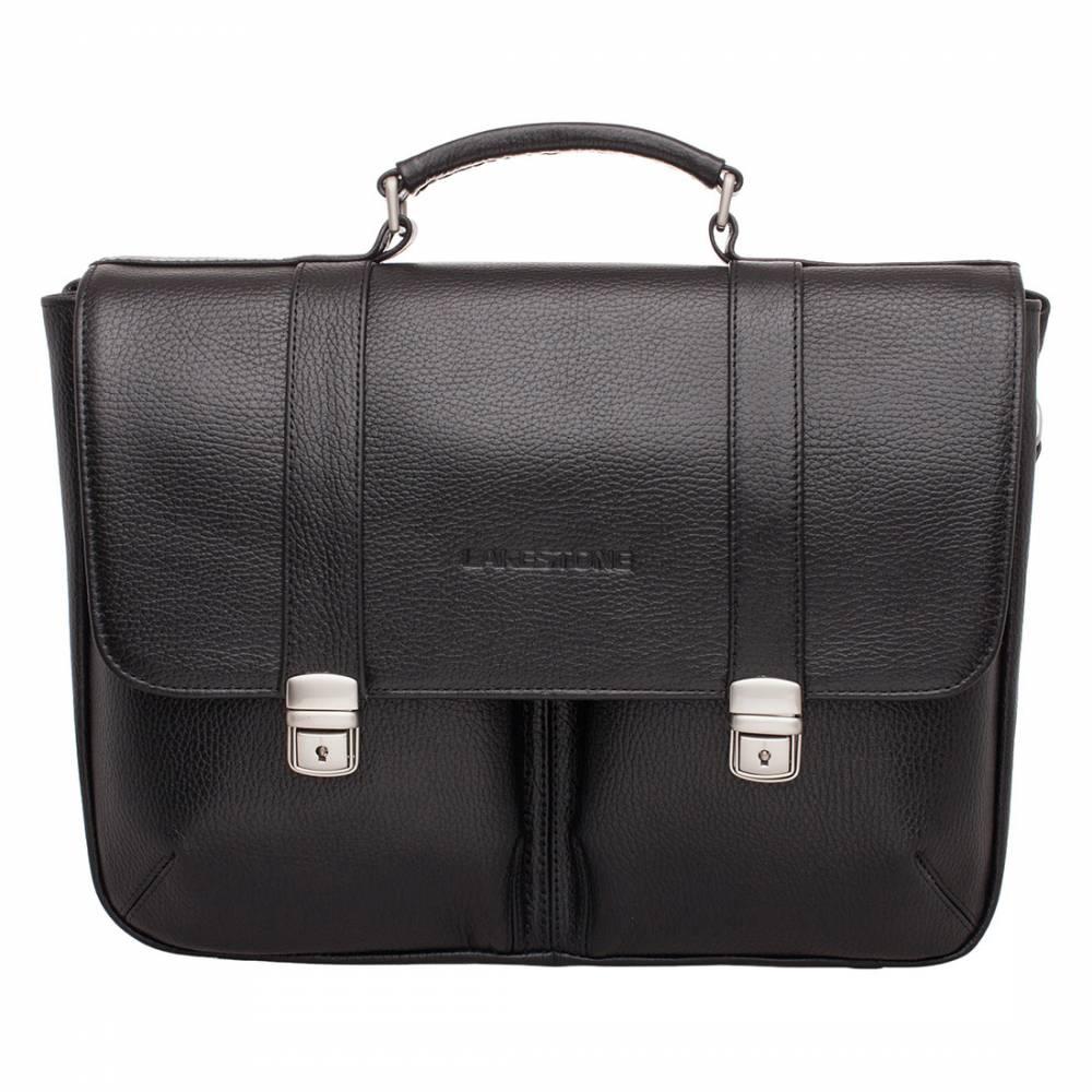 Портфель Emerson Black&amp;lt;p&amp;gt;Удобный и очень вместительный кожаный портфель для солидного молодого человека. Одна из самых объемных моделей в своем классе. Это изделие, которое по достоинству оценят мужчины, работающие с бумагами и документами. Такой аксессуар станет незаменимым помощником в повседневных делах, так как пользоваться им очень удобно.&#13; &#13; Под откидным кожаным клапаном скрываются два внутренних кармана открытого типа и основное, разделенное на две части карманом-перегородкой. Такое обилие пространства для хранения вещей позволит содержать их в идеальном порядке. Портфель можно транспортировать не только в руках, но и на плече, так как он оснащен удобным кожаным ремнем.&amp;lt;/p&amp;gt;<br>