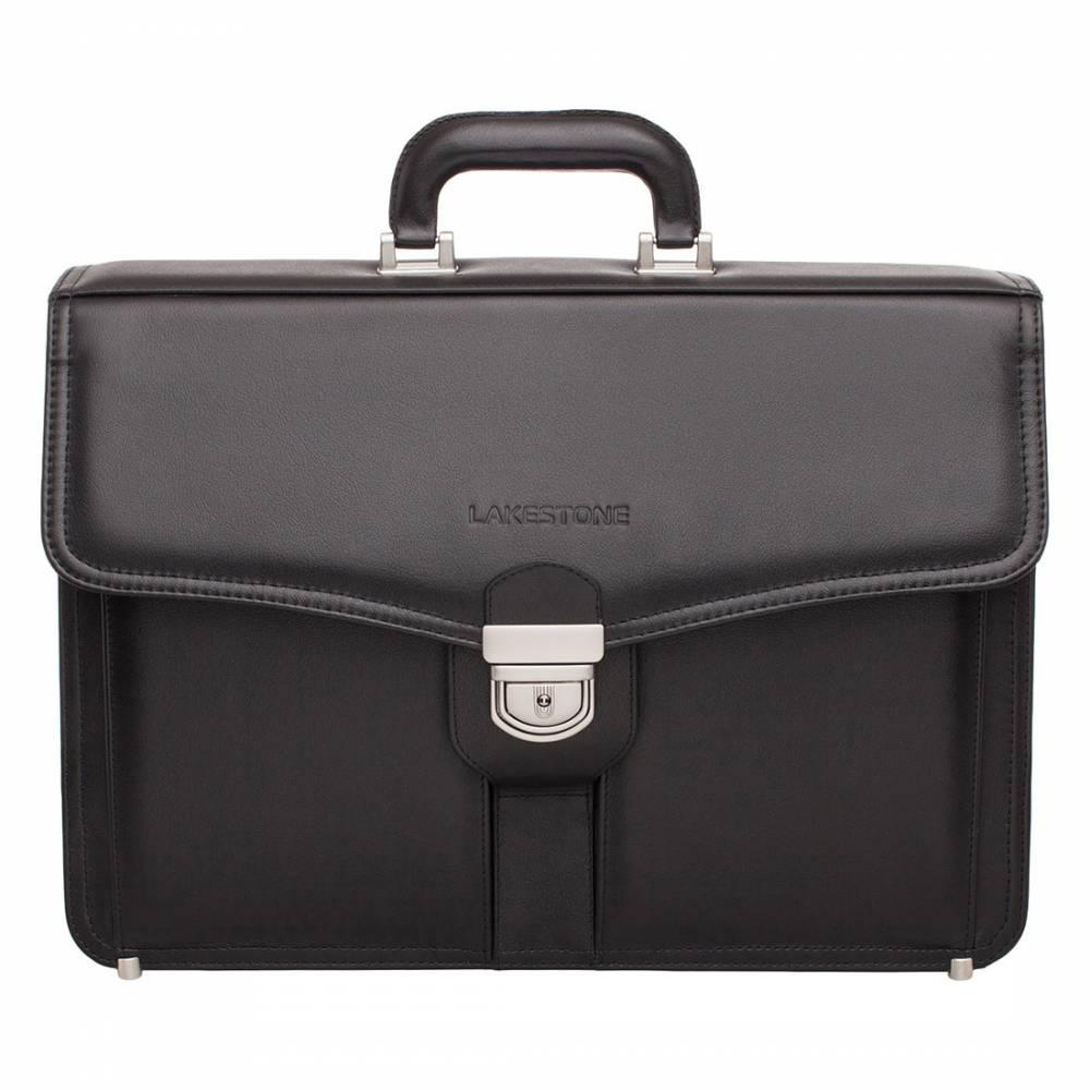 Портфель Farington Black&amp;lt;p&amp;gt;Строгий кожаный портфель – отличное решение для успешного мужчины, привыкшего к работе с бумагами. Представленная модель полностью пошита из натуральной кожи, а также отличается безукоризненным дизайном. Такой аксессуар станет верным спутником бизнесмена во время рабочих будней.&#13; &#13; Внутреннее пространство было создано для того, чтобы хранить в нем не только бумаги и портмоне, но и ноутбук. Тем более, что без электроники представить себе современного делового человека просто невозможно. В комплекте с аксессуаром идет съемный плечевой ремень, который всегда можно отстегнуть, если в нем отсутствует необходимость.&amp;lt;/p&amp;gt;<br>