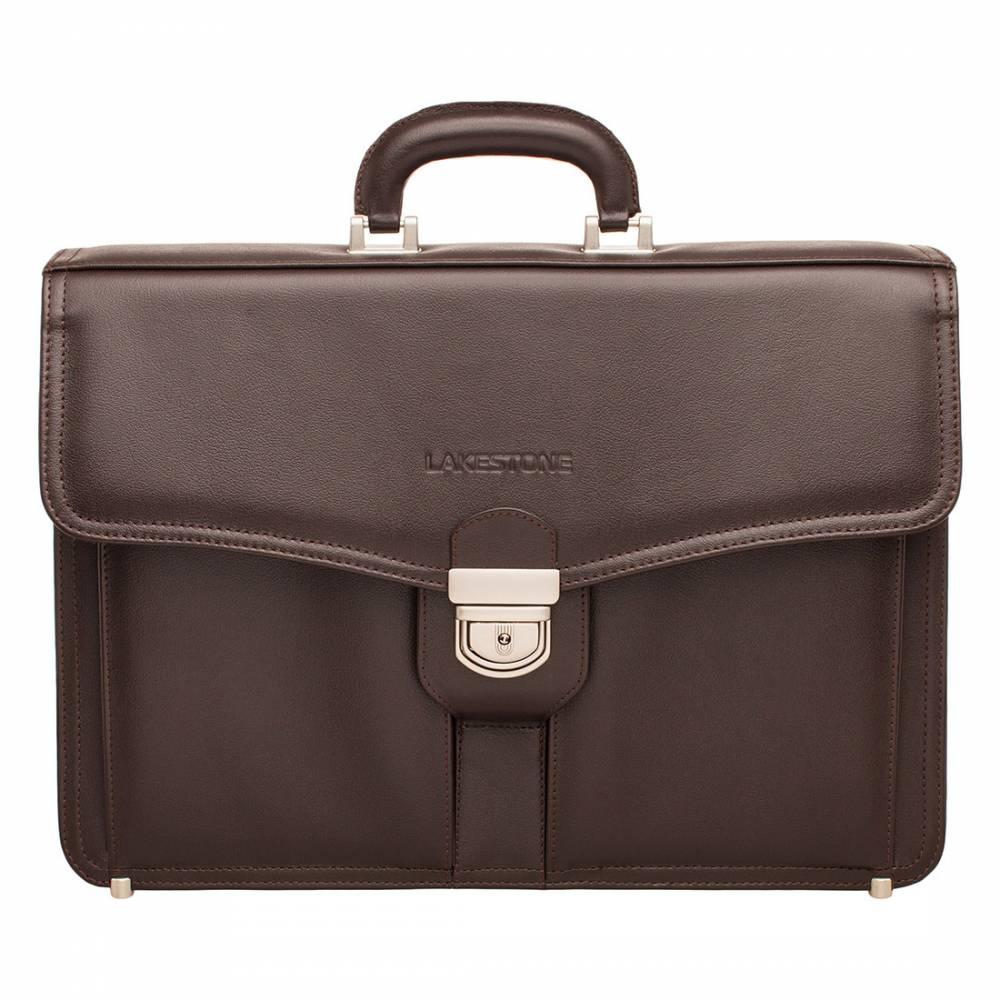 Портфель Farington Brown&amp;lt;p&amp;gt;Стильный кожаный портфель с безукоризненным дизайном. Представленная модель является отличным решением на каждый день для солидного мужчины. Портфель полностью пошит из натуральной кожи, оснащен стильной и надежной фурнитурой.&#13; &#13; Внутреннее пространство очень функционально. В нем найдется место не только для хранения ценных бумаг, но и разного рода мелочей, например, портмоне или записной книжки. Есть отдельная секция для ноутбука. Портфель можно носить как в руках, так и на плече, что очень удобно. Плечевой ремень является съемным.&amp;lt;/p&amp;gt;<br>