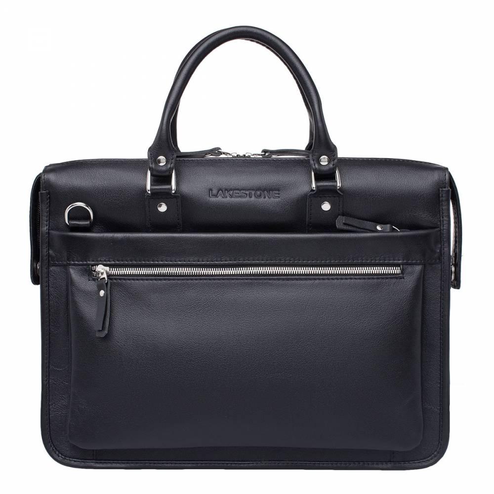 Деловая сумка Halston BlackЕсли речь заходит о мужских аксессуарах, то представленное&#13; изделие является одним из лучших экземпляров. Достаточно даже мимолетного&#13; взгляда, чтобы понять, что эта сумка изготовлена из качественной натуральной&#13; кожи, которая обладает своим неповторимым природным рельефом. Над изделием постарались дизайнеры, каждая деталь продумана&#13; до мелочей. Скрупулезный ручной труд мастеров позволил воплотить идеи&#13; разработчиков в жизнь. В итоге, всему мужскому населению страны доступен&#13; настоящий шедевр с поразительной функциональностью. Два отсека позволяют&#13; разместить внутри изделия всю необходимую документацию, при этом хватит места&#13; для ноутбука и иных нужных в работе и повседневной жизни вещей.<br>