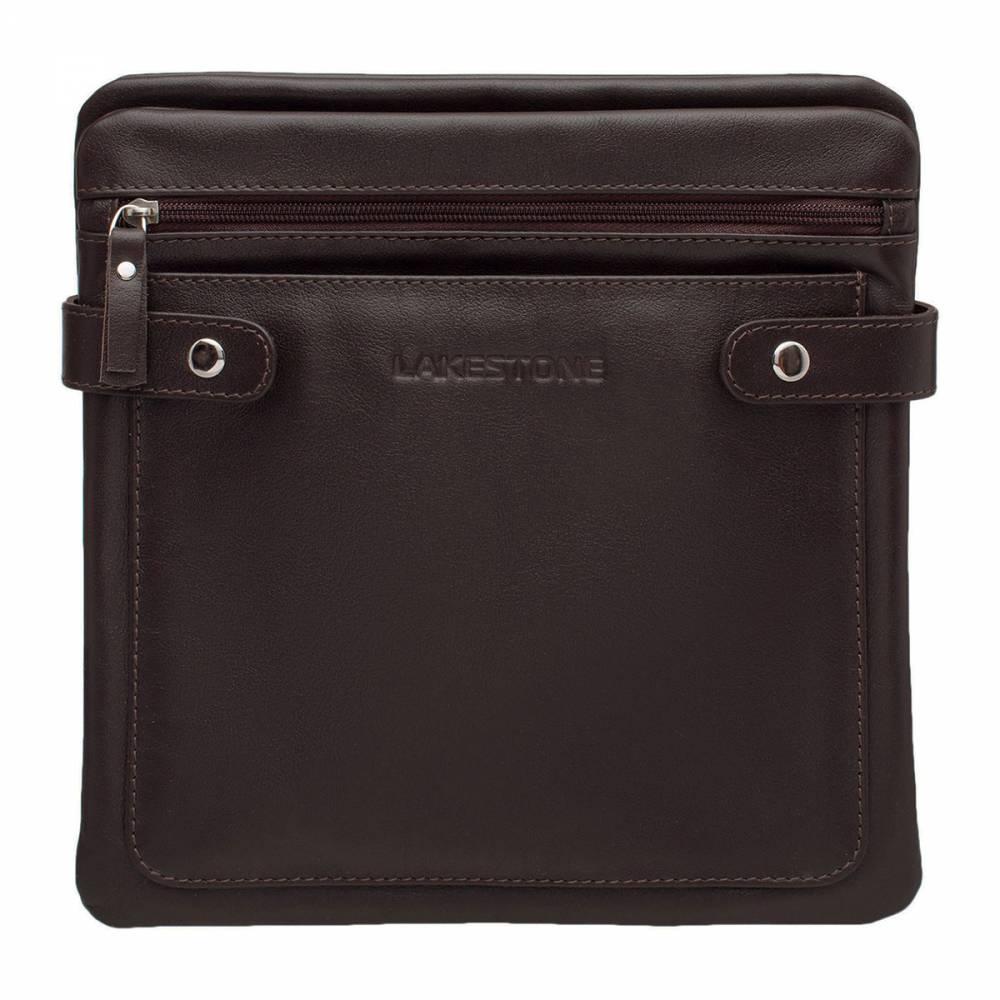 Сумка через плечо Hinton BrownКожаная сумка в коричневом цвете. Такой компактный и удобный аксессуар должен быть в наличии у каждого мужчины. Сумка отлично подходит для повседневного использования, когда нет необходимости иметь при себе габаритные вещи. В ней имеется две независимых секции, которые позволяют все содержимое сумки содержать в идеальном порядке. Аксессуар пошит из натуральной кожи, ее качество можно оценить с первого взгляда. Съемный ремень также изготовлен из кожи. Это позволит пользоваться сумкой на протяжении длительного времени и не переживать по поводу того, что изделие потеряет первоначальную привлекательность.<br>