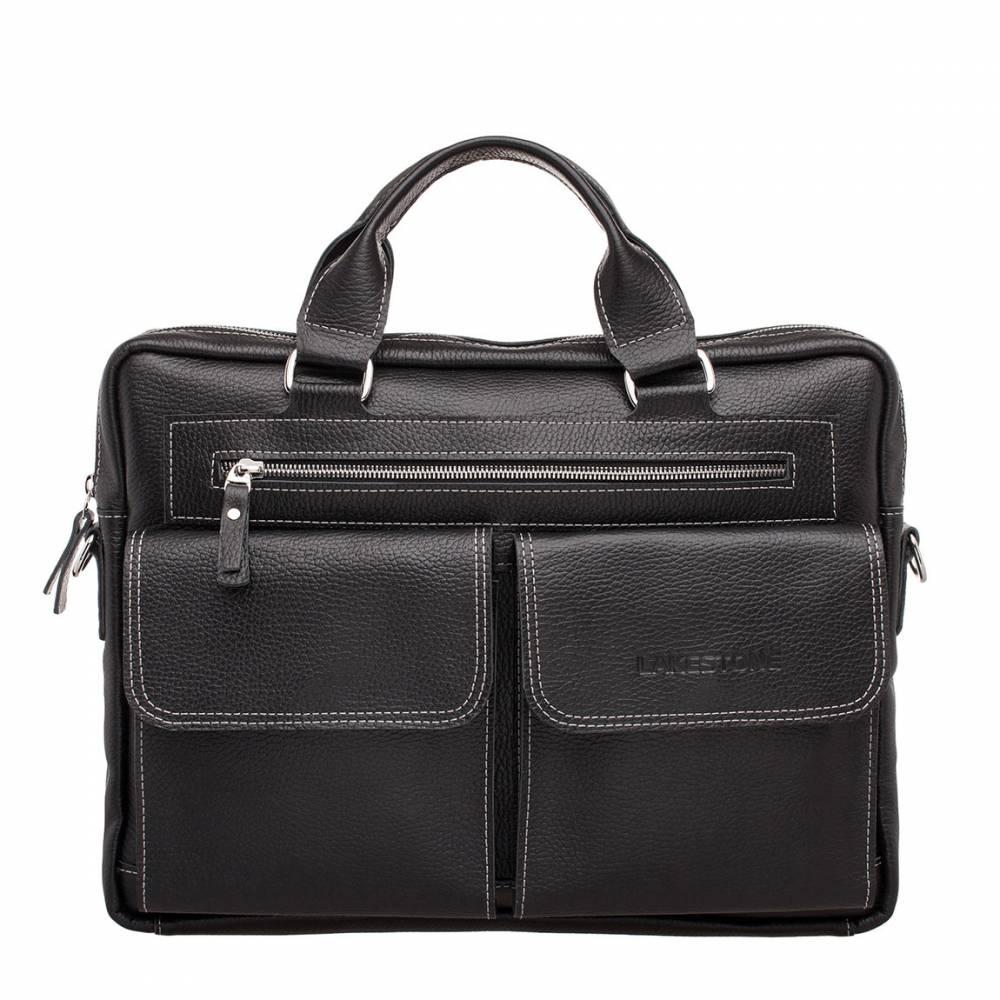 Деловая сумка Holford Black&amp;lt;p&amp;gt;Базовые качества мужской деловой сумки представлены в этом изделии. Оно солидное, стильное, вместительное и функциональное. Аксессуар пошит из натуральной кожи черного цвета. Это делает его универсальным и позволяет использовать вместо портфеля.&amp;lt;/p&amp;gt; &#13; &amp;lt;p&amp;gt;Сумка имеет одно основное отделение и множество дополнительных карманов. В аксессуаре достаточно места для транспортировки ноутбука, документов, портмоне и прочих мелочей. Носить его удобно как за две мягкие кожаные ручки, так и на плече. Ремень для этой цели имеется в комплекте. &#13; &amp;lt;/p&amp;gt;<br>