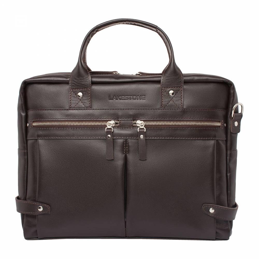 Деловая сумка Jacob BrownУдобная и стильная сумка для мужчин, твердо стоящих на&#13; ногах. Этот аксессуар выполнен вручную настоящими профессионалами своего дела.&#13; Материал, который был использован для пошива – натуральная кожа. Ее отменное&#13; качество заметно с первого взгляда. Металлические молнии на фасаде сумки&#13; смотрятся очень органично, подчеркивая мужской характер изделия. Внутри&#13; найдется место для хранения достаточно габаритного ноутбука и обилия важных бумаг.&#13; Практичность в сочетании с уникальным стилем – вот отличительные черты этого&#13; изделия.<br>