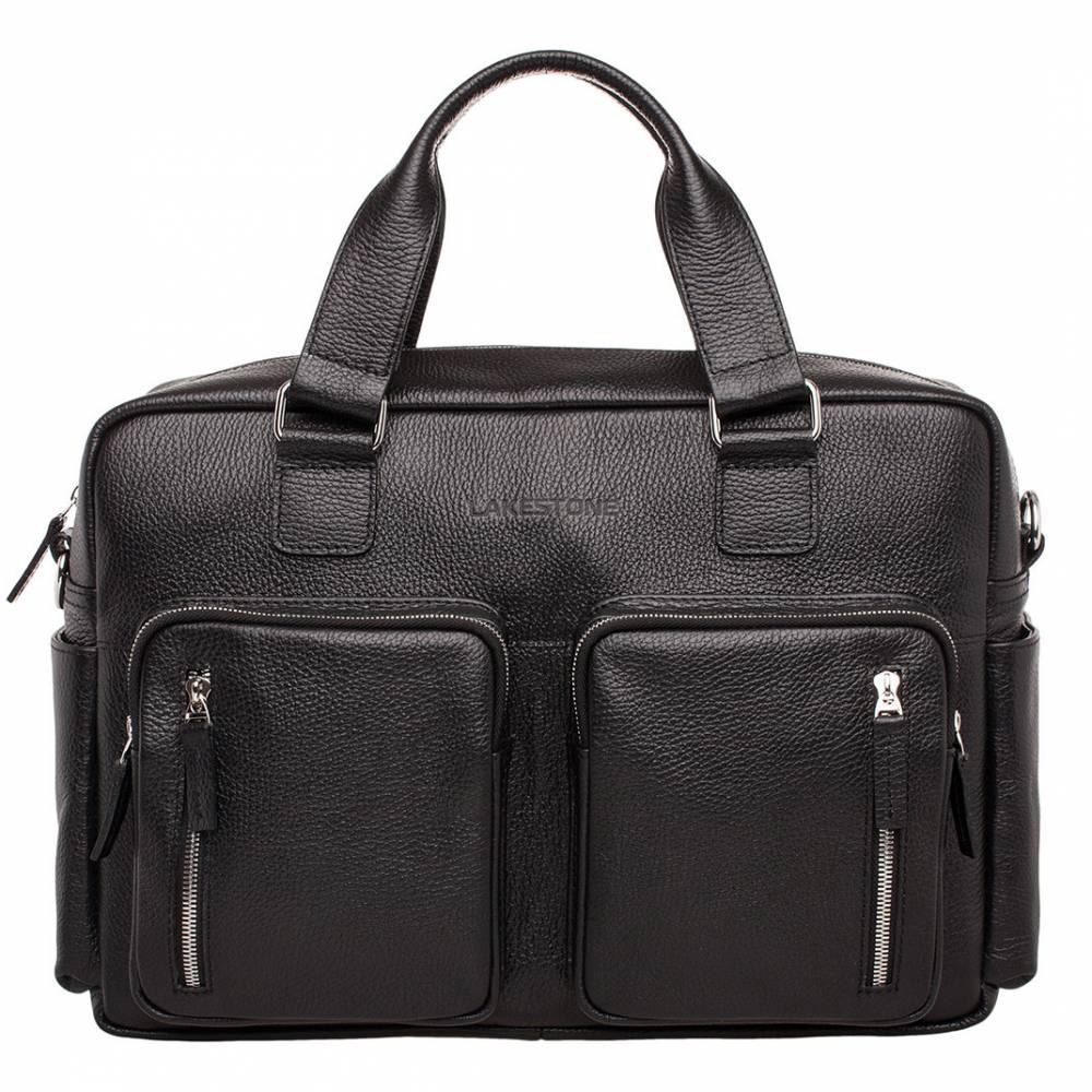 Деловая сумка большого объема Kingston Black&amp;lt;p&amp;gt;Очень вместительная деловая сумка, одна из самых больших в своем классе. Задняя стенка расстегивается для возможности крепления сумки на ручку чемодана, если пришлось отправиться в командировку или путешествие. &amp;lt;/p&amp;gt;<br>