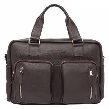 Деловая сумка большого объема Kingston Brown
