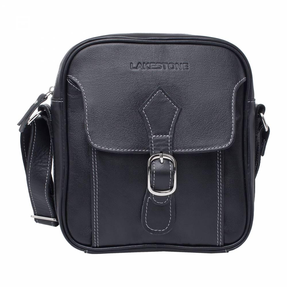 Сумка через плечо Meadow BlackНебольшая стильная сумка с оригинальным замком. Это качественное и надежное изделие, полностью пошитое из натуральной кожи. С таким аксессуаром мужчина будет чувствовать себя уверенно на протяжении всего рабочего дня. Ведь каждая необходимая ему вещь находится под рукой. Несмотря на то, что размеры сумки достаточно компактны, в нее можно поместить множество мелочей, а также документы формата А4. Плечевой ремень легко регулируется по длине.<br>