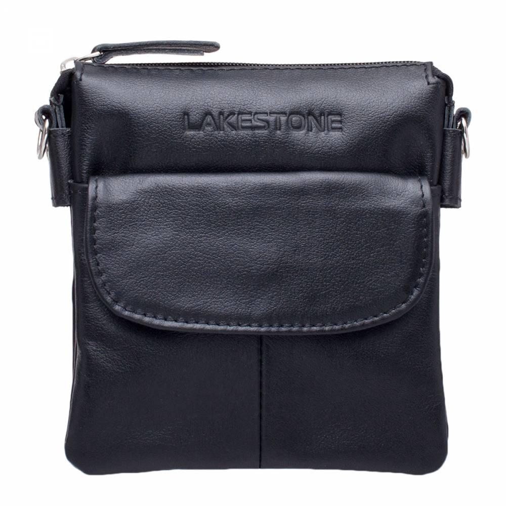 Купить Небольшая кожаная сумка через плечо Osborne Black, Lakestone