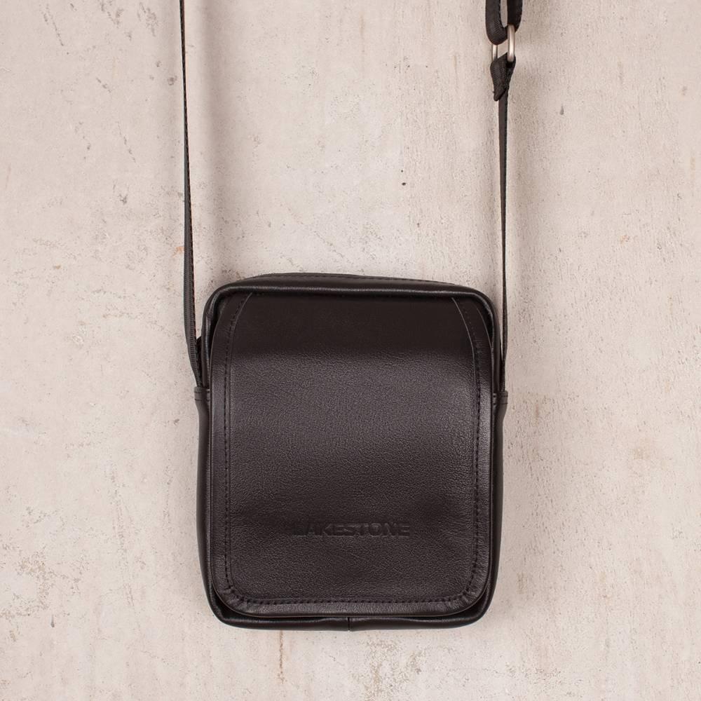Небольшая кожаная сумка через плечо Parker Black