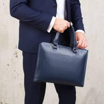 Деловая сумка-папка Randall Dark Blue