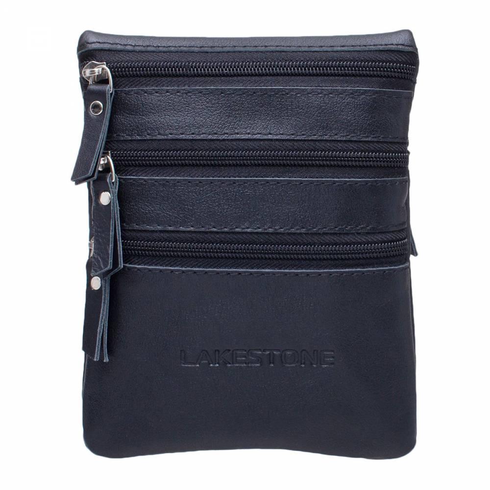 Небольшая сумка через плечо Wesley BlackКомпактная сумка на каждый день&#13; является выбором большинства деловых мужчин, привыкших к активному образу жизни&#13; в условиях каменных джунглей. С таким аксессуаром можно держать руки&#13; свободными, но при этом все необходимые вещи будут при себе. Изделие изготовлено из&#13; премиальной натуральной кожи, которая смотрится очень достойно и солидно. Что&#13; касается организации внутреннего пространства, то оно представлено тремя&#13; независимыми отделениями, каждое из которых фиксируется на молнию. Сумка имеет&#13; черный цвет, что позволяет сочетать ее с любым костюмом.<br>