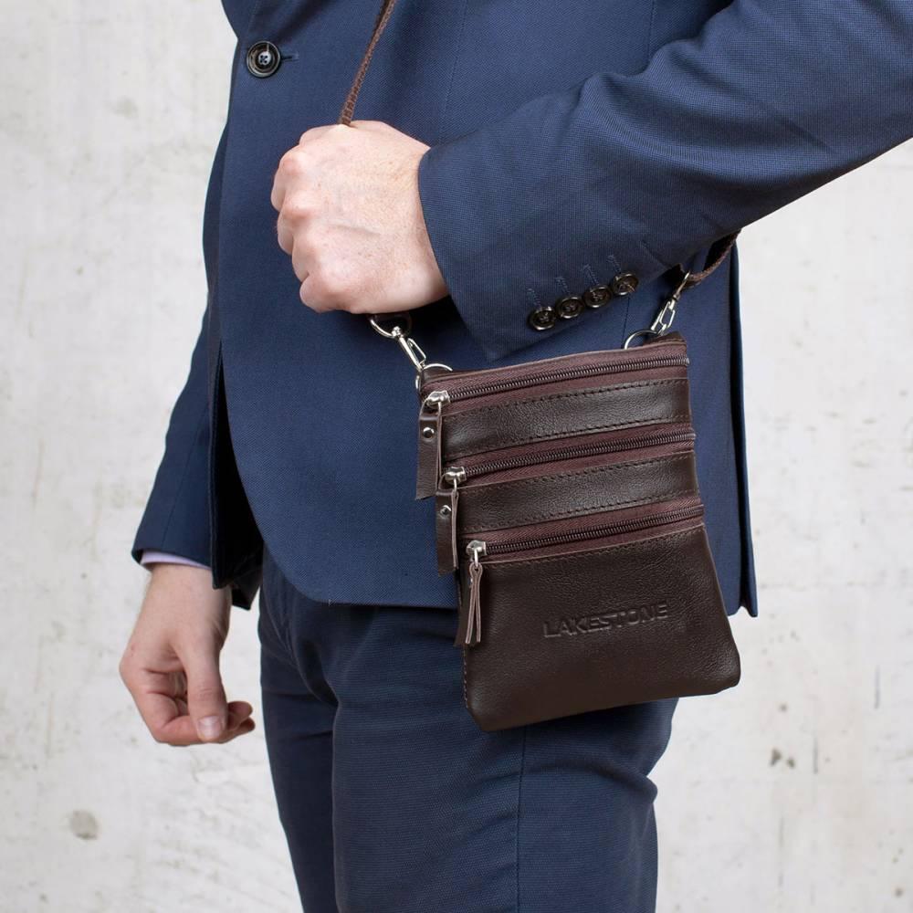 Маленькие мужские сумки через плечо из кожи