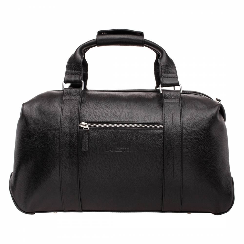 Дорожно-спортивная сумка Woodstock Black&amp;lt;p&amp;gt;Очень вместительная и качественная сумка для путешествий на близкие расстояния или похода в спортзал. Такой аксессуар обязательно должен быть в наличии у мужчин, которые часто бывают в командировках или занимаются спортом. С сумкой очень удобно передвигаться по городу. Она не слишком габаритная, но при этом в нее уместятся все необходимые вещи. Аксессуар имеет жесткое дно, но мягкие стенки, что делает его еще более объемным. При необходимости всегда можно разгрузить руки, воспользовавшись плечевым ремнем. &amp;amp;nbsp;&amp;lt;/p&amp;gt;<br>